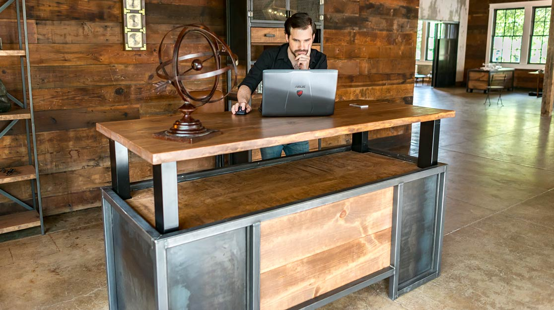 Steel Adjustable Height Desk